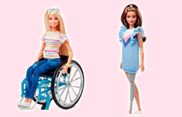 barbie cadeira de rodas prótese perna