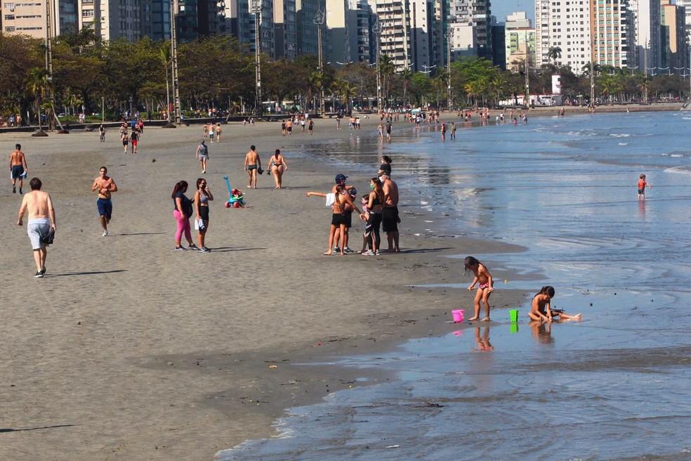interdição das praias de santos começa neste sábado (13)